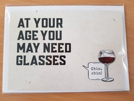 Quirky Greeting Card + Envelope - Need Glasses