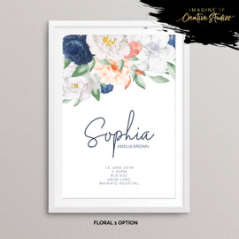 Floral Nursery Prints for Baby Gift