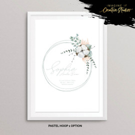 Floral Ring Nursery Prints for Baby Gift