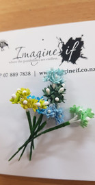 Imagine If flowers Baby Breath  Blue Green assorted