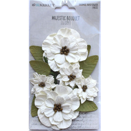 49 and Market Majestic Bouquet - ivory