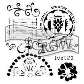 """TCW Stencil - Swirly Cue - 12x12"""""""