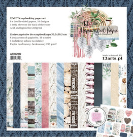 """13 @rts Paper pad HOME SWEET HOME 12x12 """"- paper pad"""