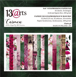 "13 @rts Paper pad CARMEN 6x6 """