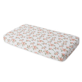 Cotton Muslin Fitted Cot Sheet - Roses