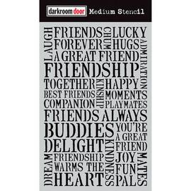 Darkroom Door Medium Stencil - Friendship