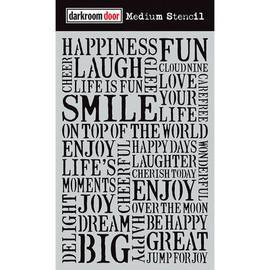 Darkroom Door Medium Stencil - Smile