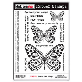 Darkroom Door Rubber Stamp Set - Spread your wings