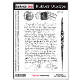 Darkroom Door Rubber Stamp Set - Handwriting