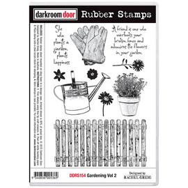 Darkroom Door Rubber Stamp Set - Gardening 2