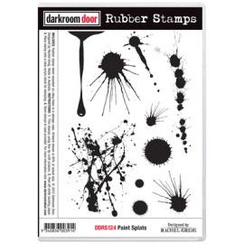 Darkroom Door Rubber Stamp Set - Paint Splats