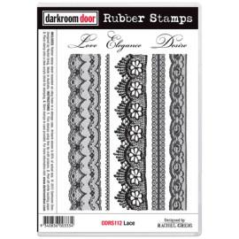 Darkroom Door Rubber Stamp Set - Lace