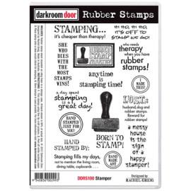 Darkroom Door Rubber Stamp Set - Stamper