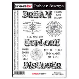 Darkroom Door Rubber Stamp Set - Discover