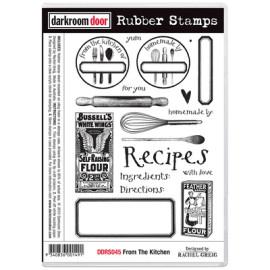 Darkroom Door Rubber Stamp Set - From the kitchen