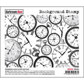 Darkroom Door Background Stamp - Clocks