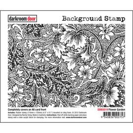 Darkroom Door Background Stamp - Flower Garden