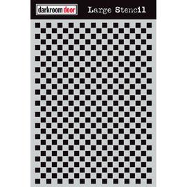 Darkroom Door Large Stencil - Checkered