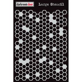 Darkroom Door Large Stencil - Honeycomb