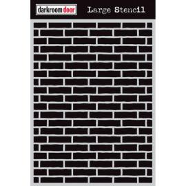 Darkroom Door Large Stencil - Brick Wall