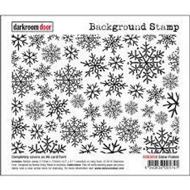 Darkroom Door Background Stamp - Snowflakes