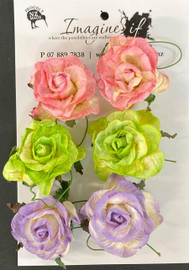 Set of 6  Flowers