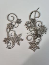 Snow Flake Swirls  - Chipboard