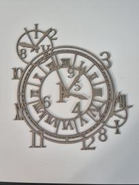 3 Clocks  - Chipboard