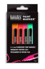Liquitex Paint Marker Sets 4mm Chisel Fluro