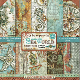 Stamperia 12x12 Paper Pad Mechanical Sea World