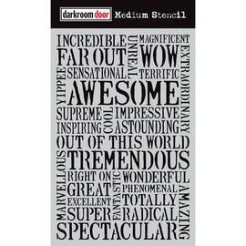Darkroom Door Medium Stencil - Awesome