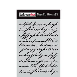 Darkroom Door Small Stencil - Handwritten Script
