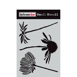 Darkroom Door Small Stencil - Carved Flowers