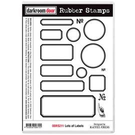 Darkroom Door Rubber Stamp Set - Lots of Labels