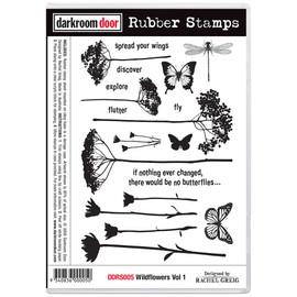 Darkroom Door Rubber Stamp Set - Wildflowers Vol 2