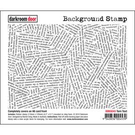 Darkroom Door Background Stamp - Torn Text