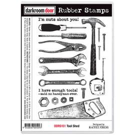 Darkroom Door Rubber Stamp Set - Tool Shed