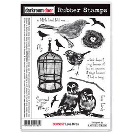 Darkroom Door Rubber Stamp Set -  Love Birds