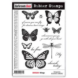 Darkroom Door Rubber Stamp Set - Wings