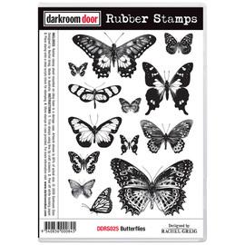 Darkroom Door Rubber Stamp Set - Butterflies