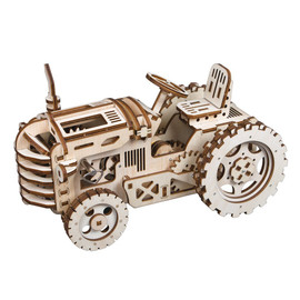Robotime Tractor: 3D Puzzle Movement Assembled Wooden Tractor