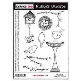 Darkroom Door Rubber Stamp Set - Bird Life