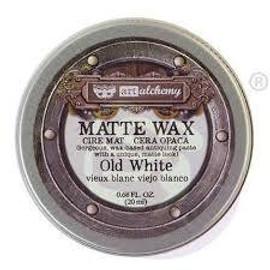 Finnabair Art Alchemy Metallique Wax - Old White