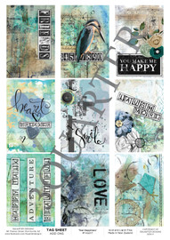 3Quarter Designs Tag Sheet Teal Happiness  3Quarter Designs presents TAGS Add On's! A4 (210 x 297mm) 300gsm card stock Acid and lignin free Designed and Printed in New Zealand These printed designs are suitable for all types of paper crafts in a range of shapes and sizes that include images and quotes and can be used on a number of projects! Add them onto your cards, scrapbook layouts, mini albums and off the page or use them on your art journal pages. They are a great Add On product with many uses -on your cards they can be a feature or a matt for your focus piece. Add them onto your layouts as a quote, a photo matt or tucked as an added layer, you can also fussy cut them and be used as paper embellishments!