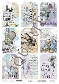 3Quarter Designs Tag Sheet Fly  3Quarter Designs presents TAGS Add On's! A4 (210 x 297mm) 300gsm card stock Acid and lignin free Designed and Printed in New Zealand These printed designs are suitable for all types of paper crafts  in a range of shapes and sizes that include images and quotes and can be used on a number of projects! Add them onto your cards, scrapbook layouts, mini albums and off the page or use them on your art journal pages. They are a great Add On product with many uses -on your cards they can be a feature or a matt for your focus piece. Add them onto your layouts as a quote, a photo matt or tucked as an added layer, you can also fussy cut them and be used as paper embellishments!