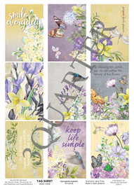 3Quarter Designs Tag Sheet Springtime Garden  3Quarter Designs presents TAGS Add On's! A4 (210 x 297mm) 300gsm card stock Acid and lignin free Designed and Printed in New Zealand These printed designs are suitable for all types of paper crafts in a range of shapes and sizes that include images and quotes and can be used on a number of projects! Add them onto your cards, scrapbook layouts, mini albums and off the page or use them on your art journal pages. They are a great Add On product with many uses -on your cards they can be a feature or a matt for your focus piece. Add them onto your layouts as a quote, a photo matt or tucked as an added layer, you can also fussy cut them and be used as paper embellishments!