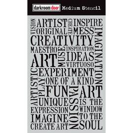 Darkroom Door Medium Stencil - Creativity