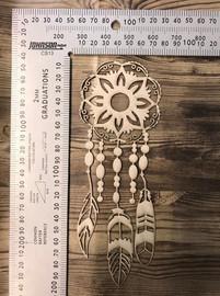 Hanging flower Dream catcher -Chipboard