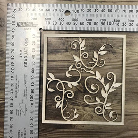 Flourish Set of 3 with Frame -Chipboard