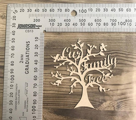 """Our Family Tree"" -Chipboard"